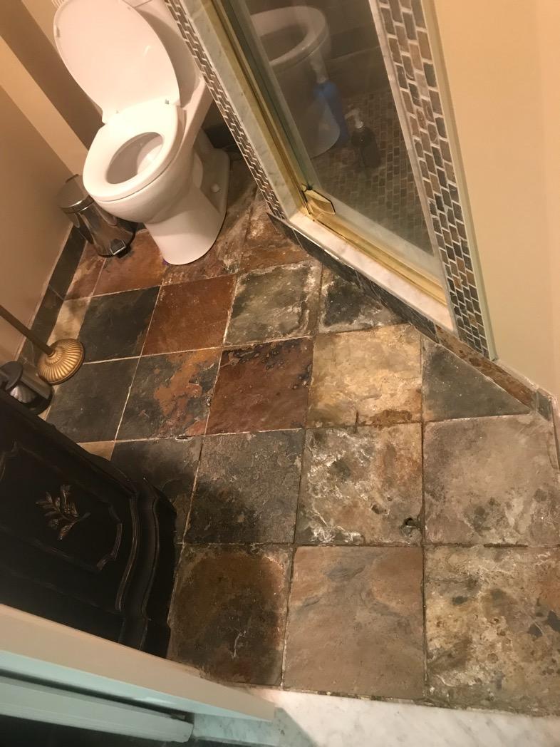 Slate floor Restoration and sealing Toronto