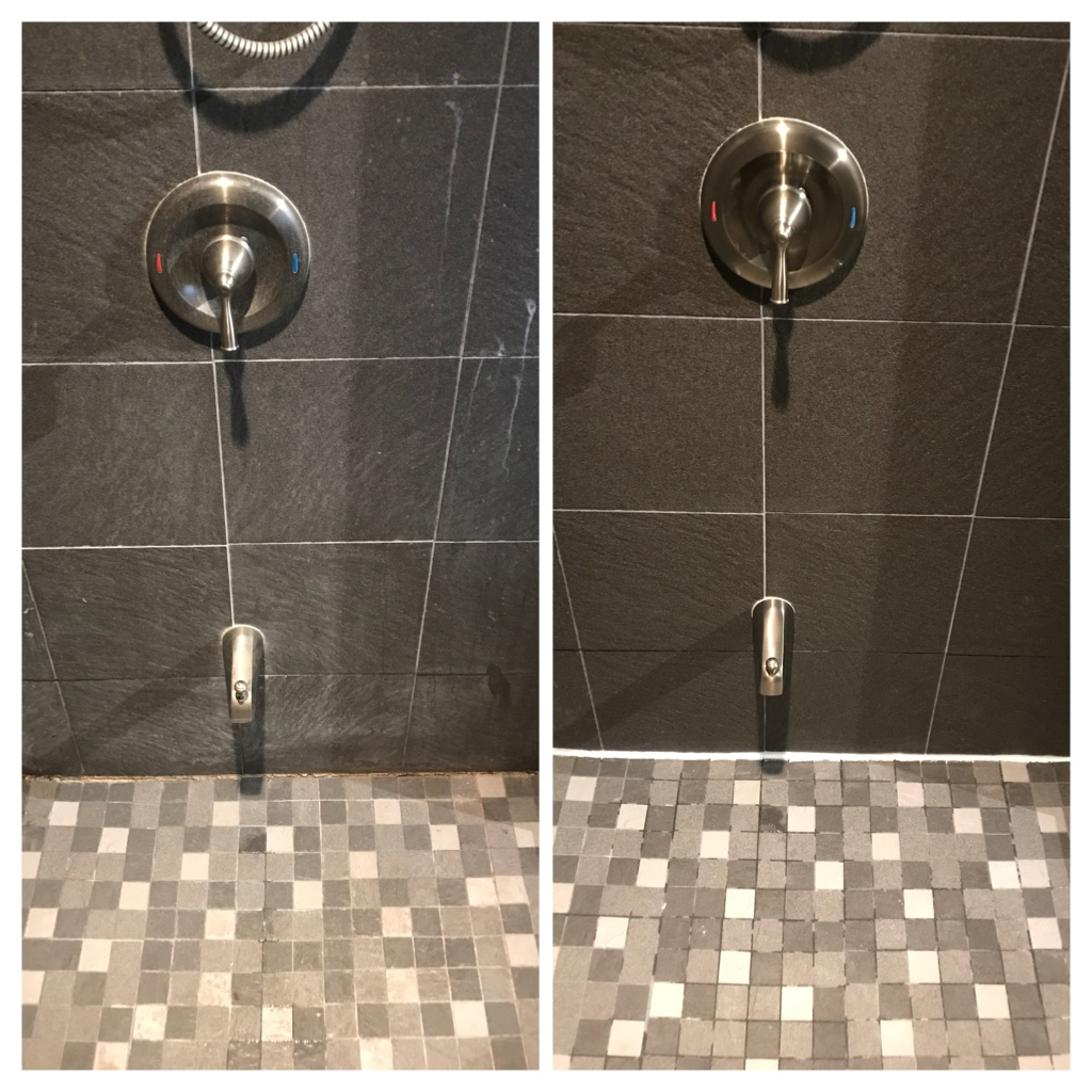 Shower mold cleaning
