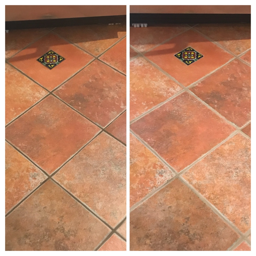 Ceramic floor tile and grout restoration Toronto - TilesRus
