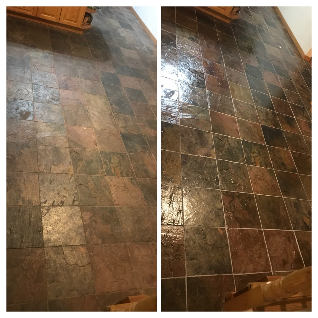 Slate floor cleaning and sealing Hamilton