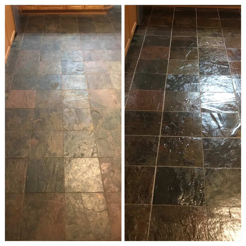 Restoration and sealing Slate floor Hamilton
