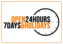 Open 24 hours 7 days & holidays