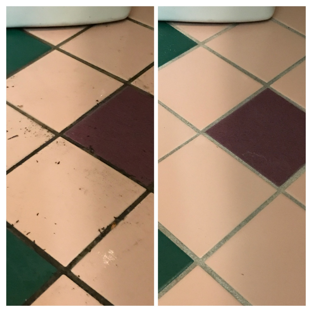 Ceramic floor tile and grout restoration Toronto