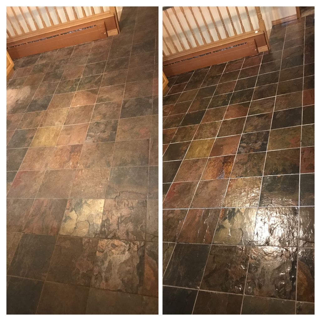 Slate floor restoration & sealing